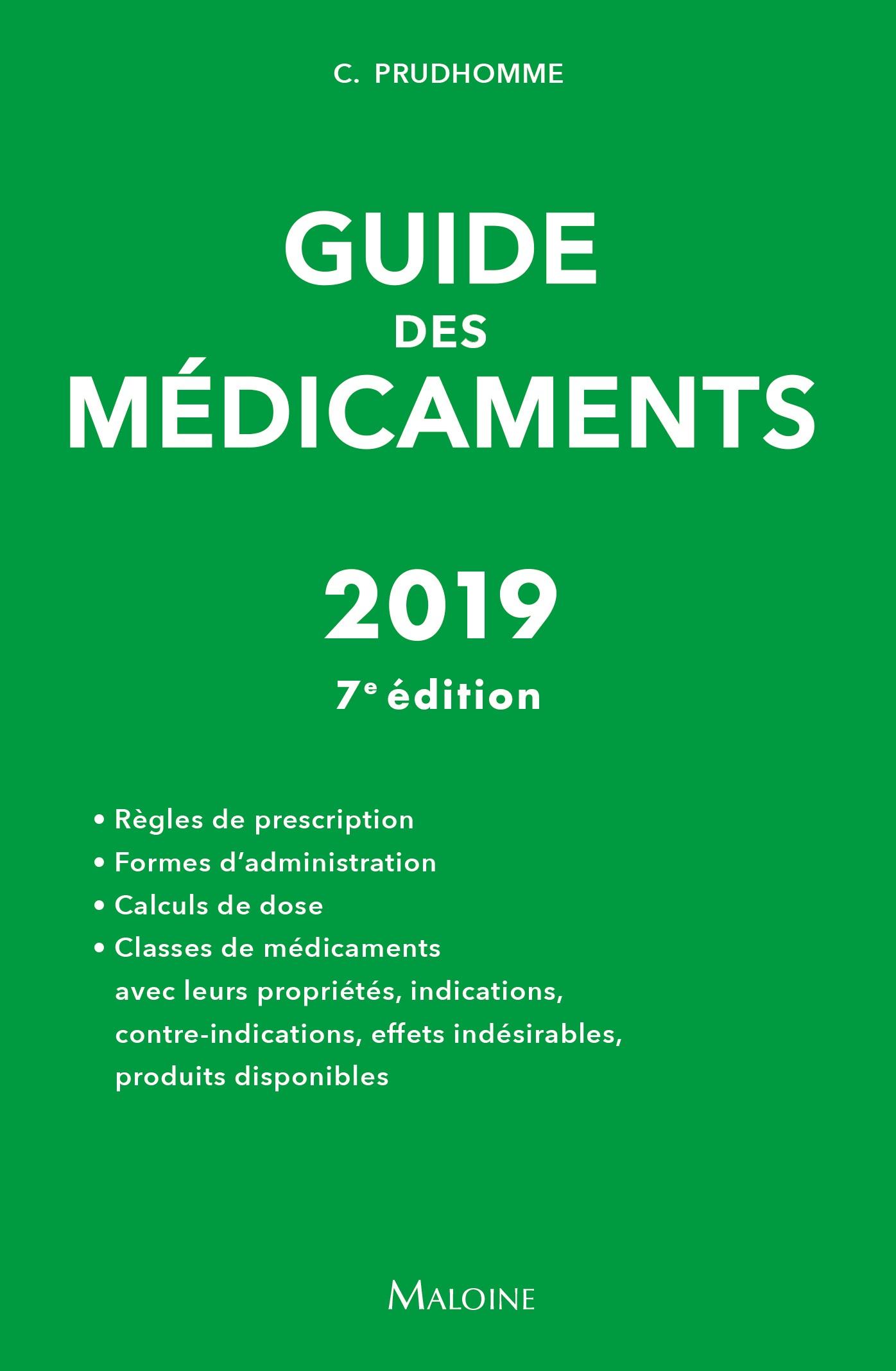 Guide des médicaments 2019, 7e éd.
